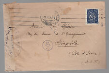 1944 Portugal censored cover to French army officer Ivory Coast