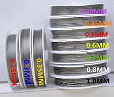 0.25 0.3 0.45 0.5 0.6  1.0MM  beads jewelry finding Stainless Steel Wire String