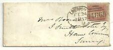 1857 B9 Liverpool Spoon senza codice COVER & parte intricato ASH SUB OA Lancashire