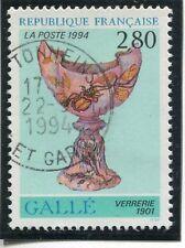 TIMBRE FRANCE OBLITERE N° 2854 ART / VERRERIE DE GALLE /