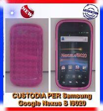 Pellicola+Custodia GRID ROSA per Samsung I9020 Nexus S (B4)
