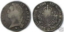 Louis XV (1715-1774) Ecu zur Band 1748 q perpignan 25,092 Stück selten