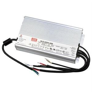MeanWell HLG-600H-24B 600W 24V 25A LED power supply IP67 Dimmable 0-10V PWM