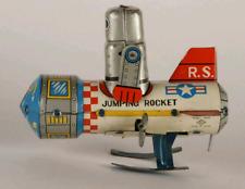 Vintage Japan Tin Jumping  Robot on Rocket RS-45