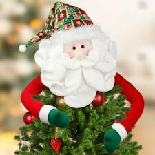 D-FantiX Santa Tree Topper, Large Christmas Tree Topper Santa Hugger Xmas Christ