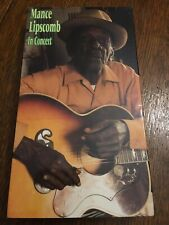 Mance Lipscomb In Concert Vhs, In Very Good Condition W/Original Booklet