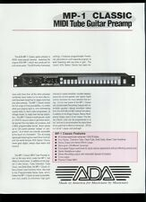 Rare Factory Original ADA MP-1 MIDI Tube Amp Guitar Dealer Sales Sheet Page