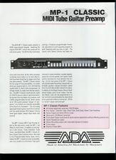Rare Factory Original ADA MP-1 MIDI Tube Amp Guitar Dealer Sales Sheet Page