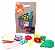 WOODEN & FELT CREATE YOUR OWN SANDWICH LUNCH pretend play kitchen food kids toy