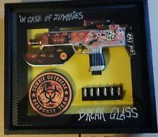 In case of Zombies,  Break Glass shadow box display 15-1/2 x 14 x 3-1/4