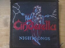 Cinderella - NIGHT SONGS - Woven Album Patch