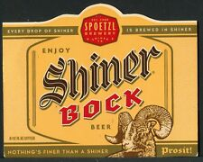 SHINER BOCK BEER FROM THE SPOETZL BREWERY IN SHINER, TEXAS >
