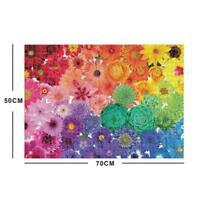 1000 Piece Rainbow Flowers Jigsaw Puzzles For Adults Kids Education K3I0