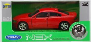 WELLY 2016 DODGE CHARGER R/T RED 1:34 DIE CAST METAL MODEL NEW IN BOX