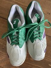 Euc Babolat Sfx All Court Michelin Wimbledon Tennis Shoes White/Green/Purple- 8