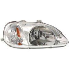 For Civic 99-00, Passenger Side Headlight, Clear Lens