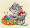 "New Cross Stitch Kit Cat ALISA ""Baby-needlewoman"""