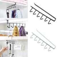 6 Hooks Over Door Hanger Home Office Bathroom Hat Coat Towel Holder Storage Rack
