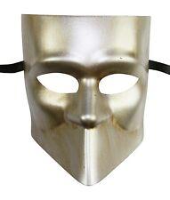 Men's Silver Bauta Masquerade Full Face Warrior Gladiator One Size Venetian NEW