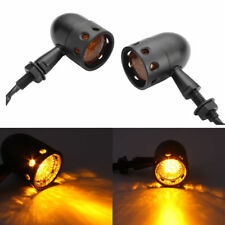 2x Retro Motorcycle Bullet Turn Signal Indicator Light For Harley Bobber Chopper