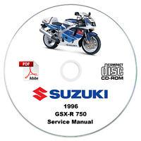 Suzuki GSX-R 750 1996 Service Manual CD