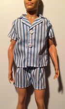 Barbie Ken Doll Clothes BLUE AND WHITE STRIPED SUMMER PAJAMAS Ryan Steven