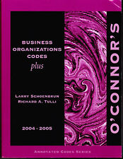 O'Connor's Texas Business Organizations Codes Plus 2004-2005 ISBN 1884554881