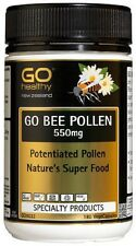 NEW ZEALAND Go Healthy GO Bee Pollen 550mg - 180 Capsules FREE SHIPPING