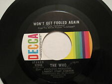 THE WHO - Won't Get Fooled Again - 45 CDN 60s MOD POWER POP rare  oop L@@K