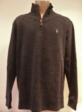 POLO RALPH LAUREN 1/4 ZIP MOCKNECK PULLOVER SWEATER Large Gray NWT MSRP $89.50