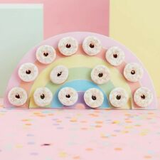 Rainbow Donut Wall Holder - Pastel Party
