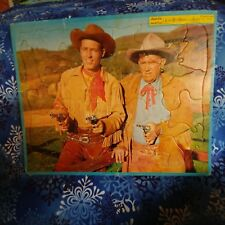 1950's Built-Rite Wild Bill Hickok and Jingles Frame Tray Puzzle Vintage