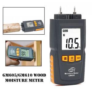 GM605 LCD LED Meter Damp Tester Detector Wood Plaster Wall Moisture Level