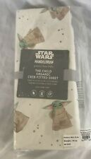 Pottery Barn Kids Star Wars Mandalorian The Child Crib Fitted Sheet NWT