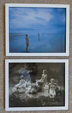 Jock Sturges 3 Nudes x 2 Pictures Glass White Wood Framed 270 x 220 mm