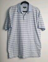 Rodd & Gunn Men's Blue Striped Short Sleeve Polo Size L