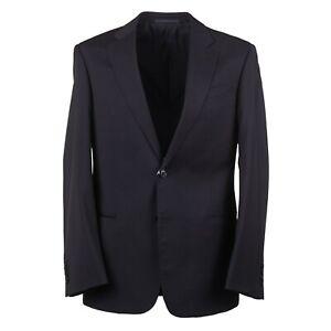 Armani Collezioni 'Giorgio' Modern-Fit Solid Black Wool Suit 40R (Eu 50)