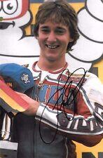 Freddie Spencer SIGNED 9x6  World  Motorcycle Champion Portrait 1983