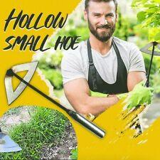 More details for uk steel hardened hollow hoe handheld weeding rake planting vegetables farm