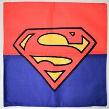 Superman Linen Cushion Cover Logo Movie Super Hero Pillow Flim Comic TV