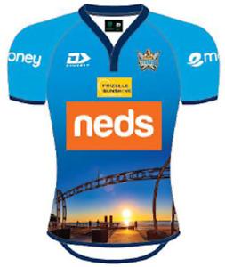 Gold Coast Titans 2021 Training Jersey Size 2XL Blue NRL Dynasty
