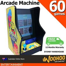 "60 in 1 Arcade Machine Upright Size 15"" Inch Screen 80s 90s Game Console"