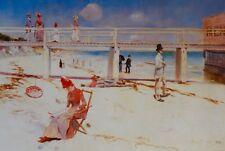 Charles Conder, A Holiday at Mentone, 1888, Art Gallery of South Australia.