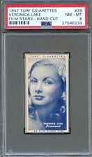 1947 TURF Cigarettes Card #39 VERONICA LAKE Sullivan's Travels Actress PSA 8