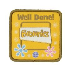 Brownie Well Done Woven Badge. OFFICIAL SUPPLIER.
