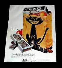HALLOWEEN MILKY WAY CANDY ADVERTISING BLACK CAT TRICK OR TREAT VINTAGE REPRINT
