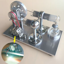 Hot Air Stirling Engine Model Micro Motor Power Electricity Generator Engine Toy