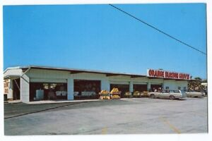 010921 VINTAGE CLEARWATER FL ROADSIDE ORANGE BLOSSOM GROVES STAND POSTCARD