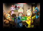 FRAMED Pokemon Poker Game 12x18 Art Print Poster Wall Decor