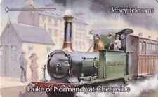 (21710) Phonecard GB Jersey Telecoms Trains Duke of Normandy at Cheapside